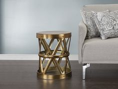 Superb Coffee table in gold and round https beliani ch