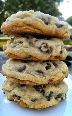 Easy Cookie Recipes, Cookie Desserts, Sweet Recipes, Baking Recipes, Dessert Recipes, Potluck Desserts, Cooking Cookies, Chocolate Chip Recipes, Baking Chocolate