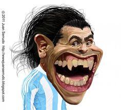 Caricatura de Carlos Tévez. Cartoon Faces, Cartoon Art, Cartoon Characters, Funny Face Drawings, Funny Faces, Funny Caricatures, Celebrity Caricatures, Ugly Men, Black And White Cartoon