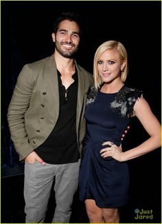 Tyler Hoechlin and Brittany Snow