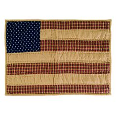 Celebrate your love for America with our Patriotic Patch quilted flag placemats. These placemats coordinate with other patriotic accents from Primitive Star Quilt Shop.