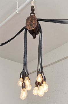 A light fixture which would look perfect in an industrial-style décor