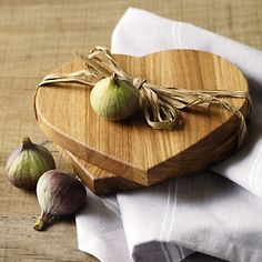 Buy At Home > Kitchen Accessories > Oak Heart Chopping Board - Set of 2 from The White Company