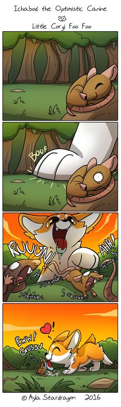 Ichabod the Optimistic Canine :: Little Corgi Foo Foo   Tapastic Comics - image 1
