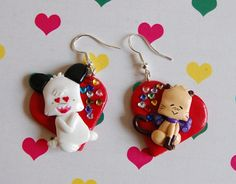 Hello Spank handmade polymer clay earrings by Akindoonline on Etsy