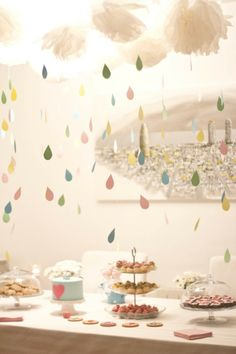 Baby shower - love the raindrops