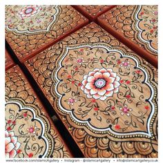 Hand painted wooden box designed by Shafina Ali