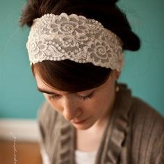 Garlands of Grace - Katherines Classic ivory stretch lace.