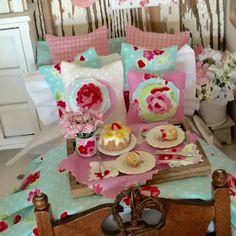 Cottage Style Dessert Board-1:12 Dollhouse by RibbonwoodCottage