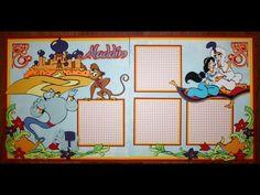 Faith Abigail Designs - Aladdin Scrapbook Layout Tutorial Created from Dreams Come True (Jasmine) & Storybook carts.
