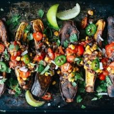 Caribbean Plantain & Bean Boats is a delicious naturally gluten free and meatless entree utilizing carbohydrate rich plantains and protein rich bean salad {recipe}