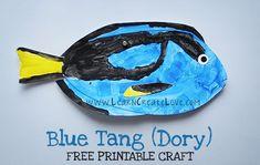 Printable Craft: Blue Tang (Dory)