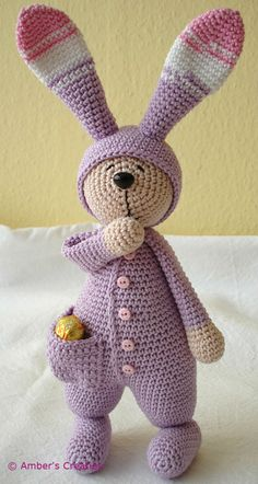 Sleepy rabbit from Ambers Creaties Aaaah ! si seulement je savais crocheter ! Easter clipart ideas