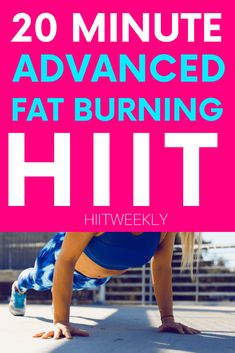 Blast fast with our 20 minute at home advanced fat burning HIIT workout that requires no equipment. Lose some serious weight with our HIIT workouts. 20 Min Hiit Workout, Circuit Training Workouts, Fun Workouts, Fitness Workouts, Home Exercise Routines, Workout Routines, Kids Workout, Workout Ideas, What Is Hiit