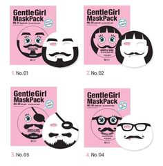 SNP Gentle Girl Cellulose Sheet Facial Mask Pack (10ea) character mask  #SNP