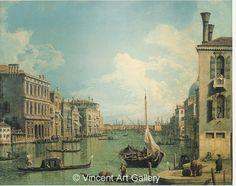 A1014, CANALETTO, Grand Canal near the Campo San Vio, looking the Church of Santa Maria della Salute