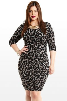 654ea710bb0 plus size metallic silver gray leopard print dress  UNIQUE WOMENS FASHION Animal  Print Plus Size Dresses