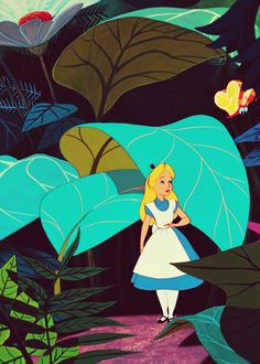 Image discovered by Once Upon a Time. Find images and videos about disney, wonderland and alice on We Heart It - the app to get lost in what you love. Disney Love, Disney Magic, Disney Art, Disney Pixar, Walt Disney, Alice In Wonderland 1951, Adventures In Wonderland, Heroes Disney, Disney Kunst