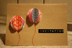 Whatever the occasion, it's invitations made easy with Dymo! Balloon Invitation, Invitation Design, Invitation Cards, Diy Projects To Try, Crafts To Make, Origami, Party Invitations Kids, Card Making Inspiration, Craft Party