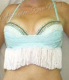 Cowgirl Up! rave bra, $60.00 on Etsy!