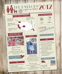 Shabby Blogs Free Family Newsletter Template Printable