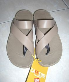 Fitflop SLING Mink Leather Toe Loop Thong Comfort Sandals 6 M US/37 EU - NWT #FitFlop #SportSandals