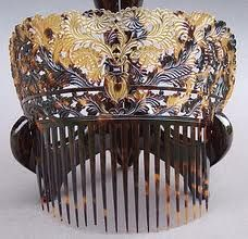 Chinese Carved Tortoiseshell Mantilla Hair Comb. We think every girl should have a gorgeous hair ornament at Renaissance Fine Jewelry & Renaissance Fine Antiques of New England. www.vermontjewel.com