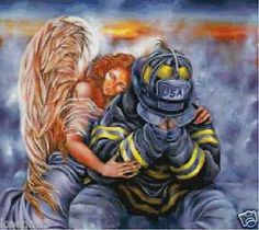 firefighter and angel picture - Google Search