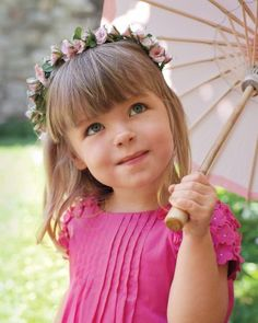 Pretty in Pink Flower Girl ~