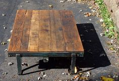 vintage industrial train station cart coffee table If you like this then check out my shop for one of a kind handmade art and decor items https://www.etsy.com/shop/SalehDesigns?ref=si_shop industrial chic vintage reclaimed up cycled repurposed game of thrones gears steampunk welded steel sculptures eclectic decor