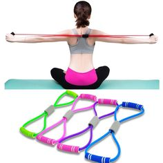 Hot Yoga Resistance Fitness Resistance Rope   Home Care Fitness Yoga Fitness, Yoga Gym, Muscle Fitness, Health Fitness, Crossfit Equipment, No Equipment Workout, Sports Equipment, Training Equipment, Crossfit Gym