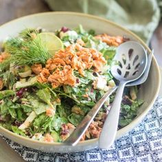 This Quick and Easy Salmon Salad recipe is so easy to make and so delicious, you're probably gonna want to have one every day!
