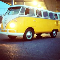Yellow Volkswagen Bus / Yellow submarine....i have to have this i will have it someday somehow!!!!!
