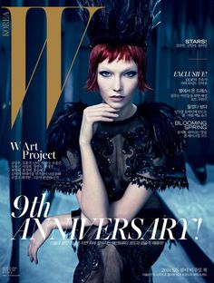 Magazine Cover: Karlie Kloss is Showgirl Chic in Louis Vuitton for W Korea Cover ~ March 2014