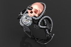 BLACK VIPER SKULL RING. I need this in my life!
