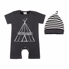 Baby's Fun Tent Cotton Romper/One-Piece & Hat Set, 33% discount @ PatPat Mom Baby Shopping App