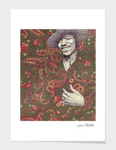 """""""Hendrix"""", Numbered Edition Fine Art Print by Jason Ratliff - From $25.00 - Curioos"""