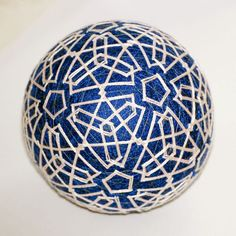 Winter Lace temari ball by mfrid on Etsy, $25.00