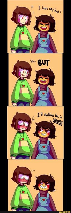 Don't ship them (you did realize that chara and frisk is transgender right?)