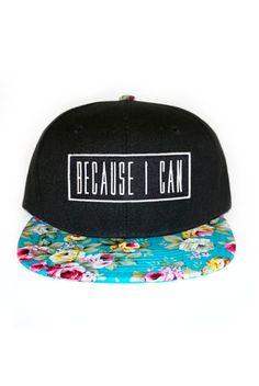 Malibu Snapback  millioneiress  snapback  blue  floral  becauseican Flat  Bill Hats 2d89dd15eb