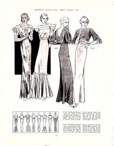 Butterick Fashion Book, Early Spring 1934 featuring Butterick 5396, 5399, 5465 and 5443