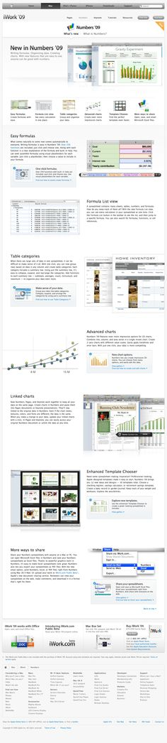 Apple - iWork - Numbers - Spreadsheets never looked so good. (07.01.2009)