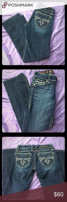 Rock Revival jeans Beautiful Rock Revival Leona Boot. Dark wash excellent condition. Rock Revival Jeans Boot Cut