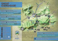 Mapa a trasy Tiesňavy a Terchová Suitcase