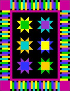 Quilting Assistant : Free Border Pattern : Piano Keys