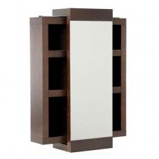 Dark Wood Bathroom Cabinet Mito Sliding Mirror In Wenge