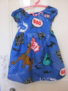 Items similar to Girls Kitsch Scooby Dress to fit up to chest on Etsy Vintage Crafts, Kitsch, Dress Making, Scooby Doo, My Etsy Shop, Summer Dresses, Fitness, Clothing, How To Make