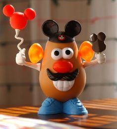 $20 fill a box of mr. potato parts at Once Upon a Toy in Downtown Disney