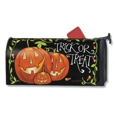 Magnet Works Halloween Trick or Treat Original Magnetic Mailbox Wrap Cover Halloween Owl, Halloween Trick Or Treat, Halloween Treats, Halloween Party, Magnetic Mailbox Covers, Painted Mailboxes, Halloween Accessories, Flag Decor, Toy Store