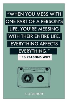This quote from the much-talked-about Netflix series Reasons Why' reminds us just how difficult navigating friendships, love, and adolescence in general can be (in case you'd blocked it out! 13 Reasons Why Fanart, 13 Reasons Why Poster, 13 Reasons Why Reasons, 13 Reasons Why Netflix, Thirteen Reasons Why, Film Quotes, True Quotes, Book Quotes, Selfie Quotes